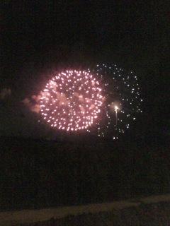 地元の花火